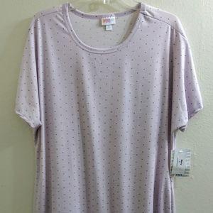 LuLaRoe Marly Dress. Lavender With Dots. Size XL
